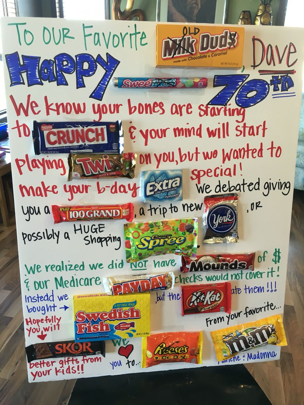 candy bar poster for 40th birthday ; 10a2ce457ecc7bdede7d03d69a6212dc