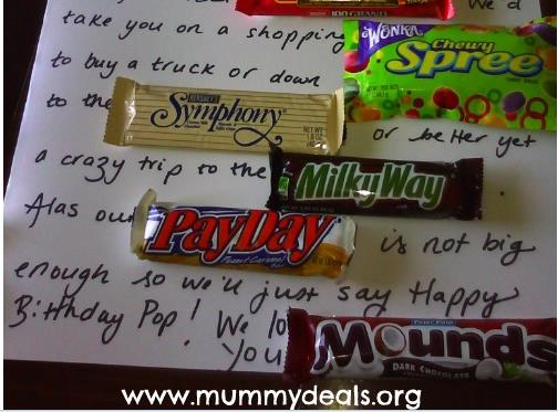 candy bar poster for 40th birthday ; Capture1