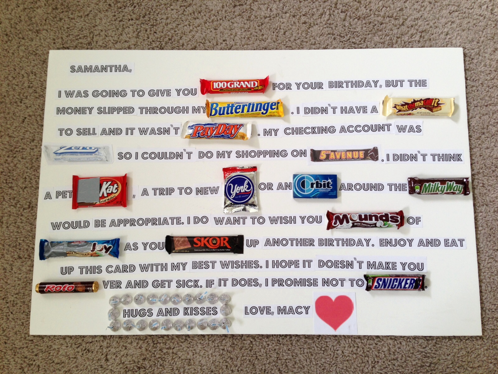 candy bar poster for 40th birthday ; birthday-card-made-out-of-candy-bars-best-of-25-unique-candy-bar-poems-ideas-on-pinterest-of-birthday-card-made-out-of-candy-bars