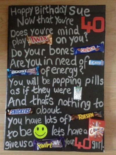 candy bar poster for 40th birthday ; ca5d7fa074aa638ffbe590ace9469e8b