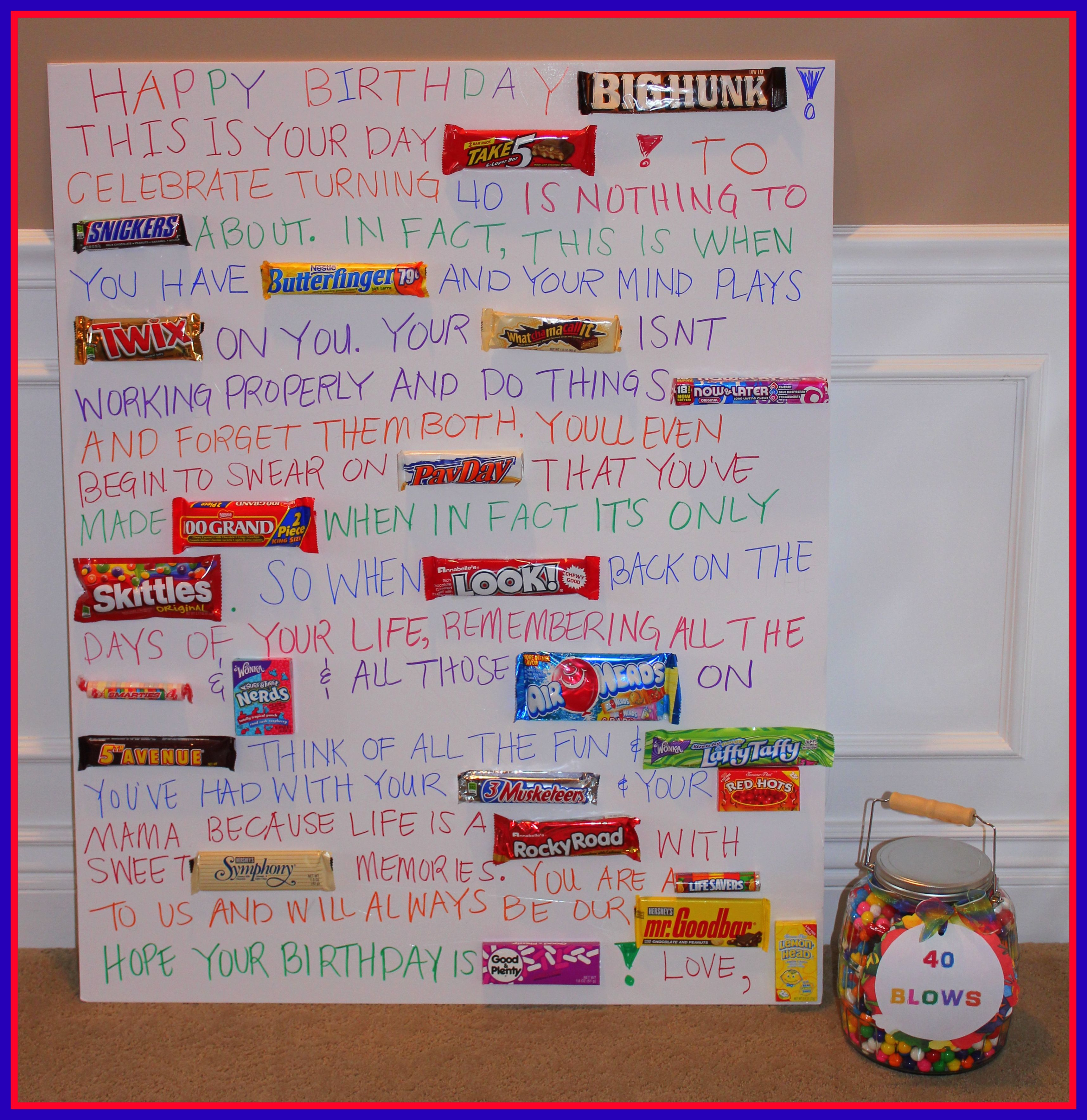 candy bar poster for 40th birthday ; e57fc61367d5a2579a46ea792fdefe0c
