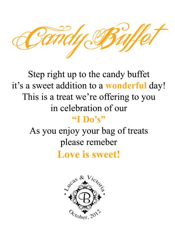 candy buffet sign wording birthday ; 20120265d87eac799b19e836390814f3--wedding-to-do-list-our-wedding