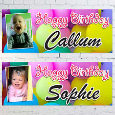 children's personalised birthday banners ; s-l225