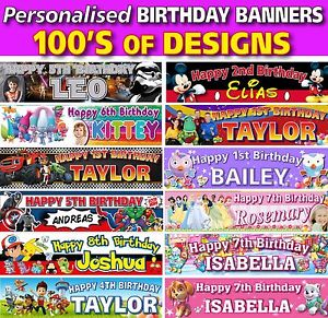 children's personalised birthday banners ; s-l300
