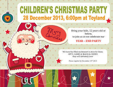 christmas birthday party invitation templates ; Children-Holiday-Party