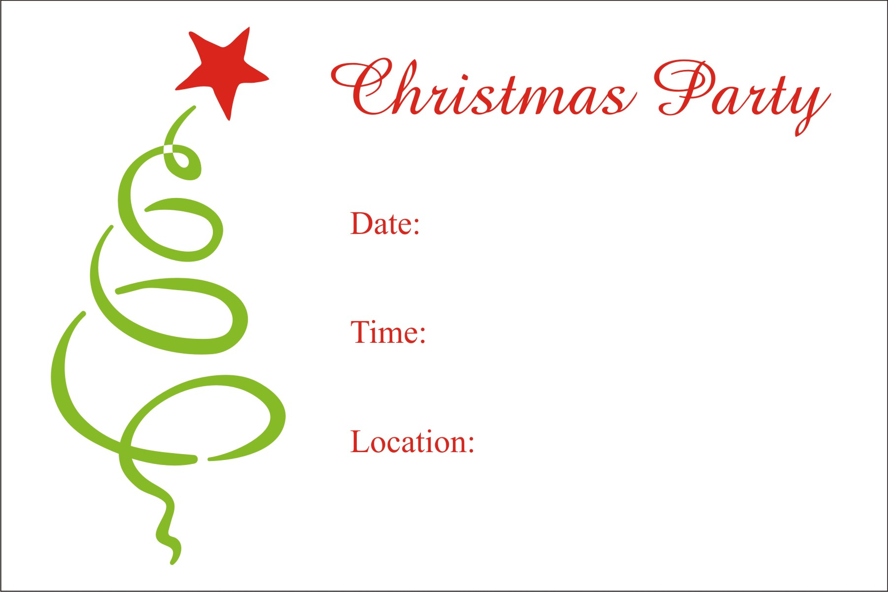 christmas birthday party invitation templates ; christmas