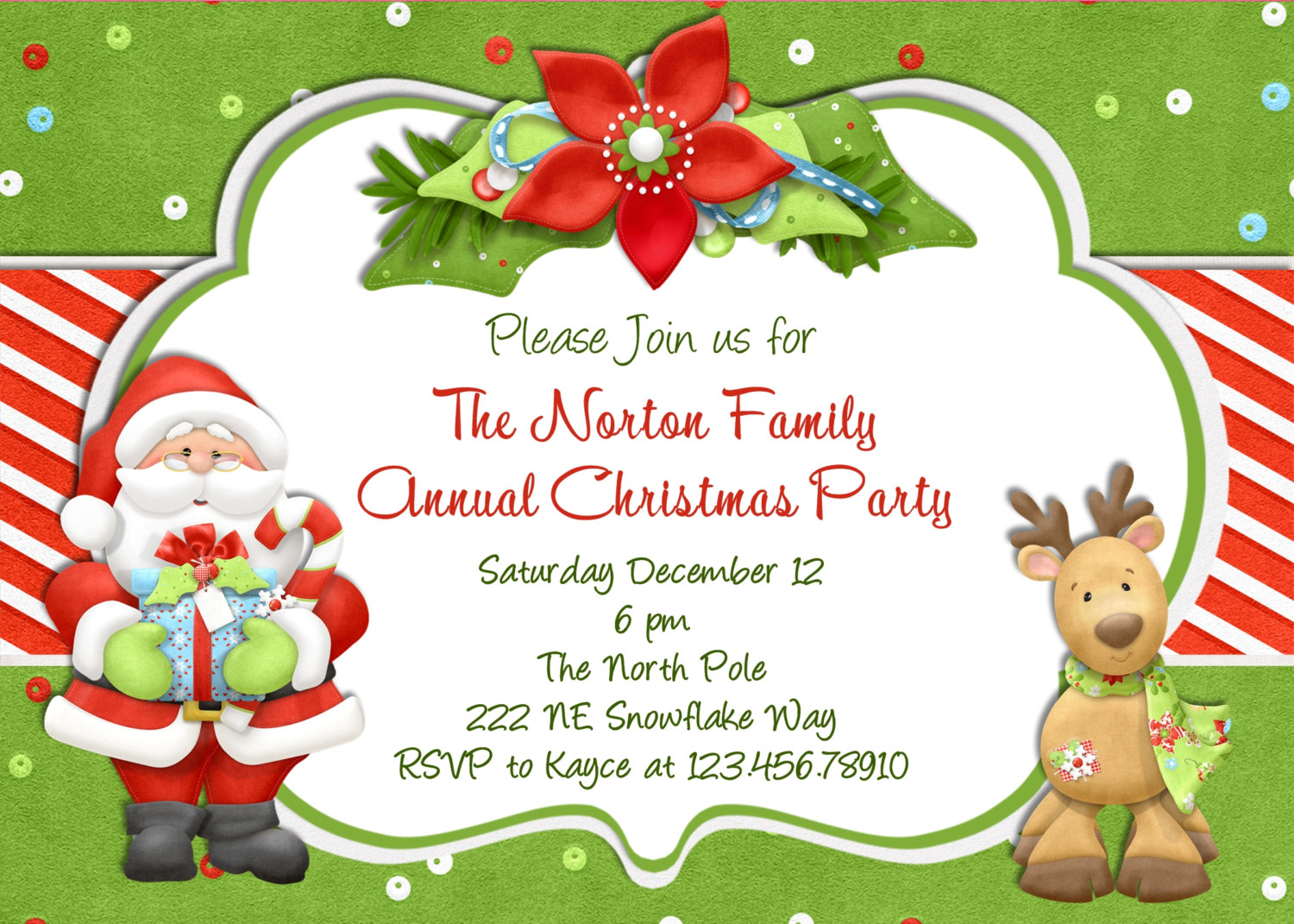 christmas birthday party invitation templates ; il_fullxfull