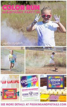 color run themed birthday party ; f34f50f4f2e8fea572c8d12041c691b0--easter-party-th-birthday
