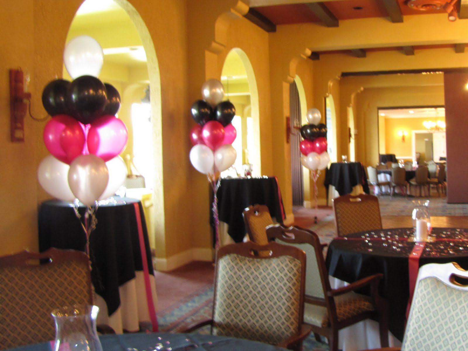 color theme for 70th birthday party ; Yatch%252BBlack%25252C%252BMagenta%252Bwhite%252Bfloor%252Bclusters