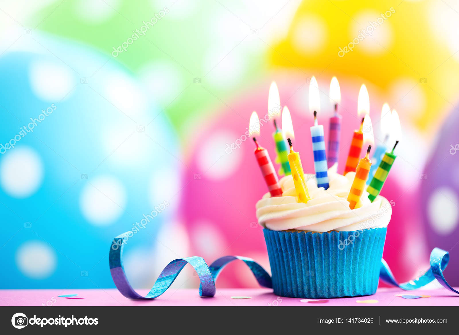 colorful birthday images ; depositphotos_141734026-stock-photo-colorful-birthday-cupcake