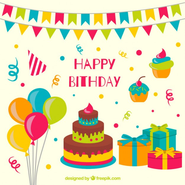 colorful birthday images ; hand-drawn-colorful-birthday-decoration_23-2147554762