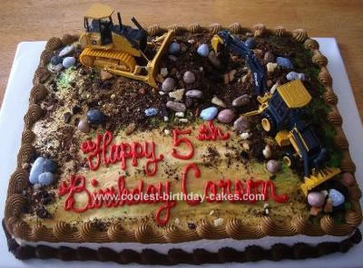 construction birthday sheet cake ; coolest-construction-site-cake-37-21333982