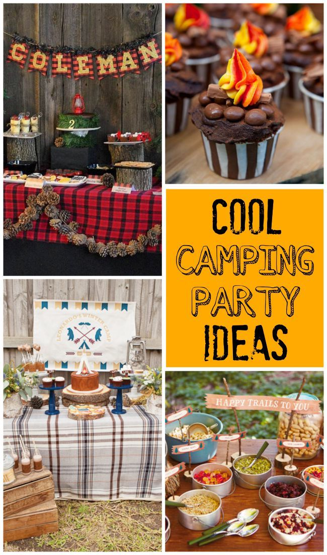 cool birthday themes ; 1062b48396c4aa561e25cbec17cd0517--camping-parties-camping-birthday-party-ideas-for-kids