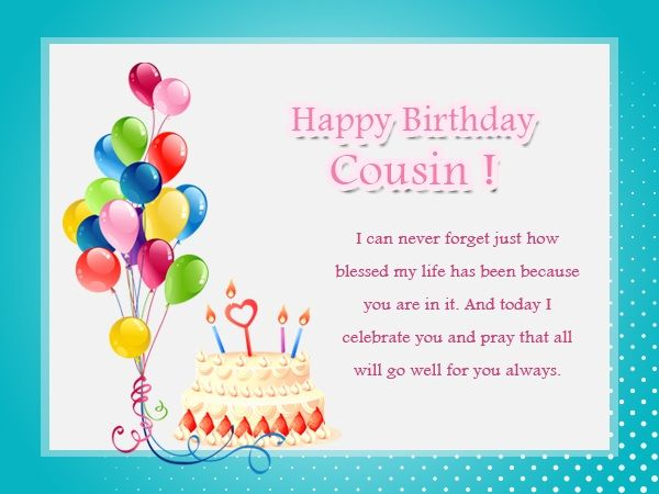 cousin birthday card messages ; 834b42ad34c7db90dfb238163f90c4bc