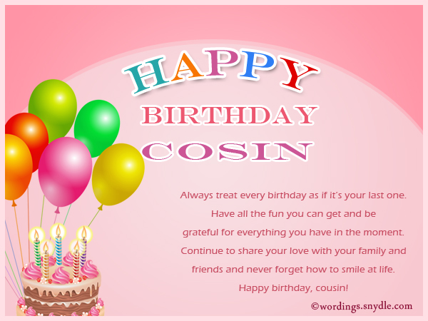 cousin birthday card messages ; birthday-wishes-for-cousin-1
