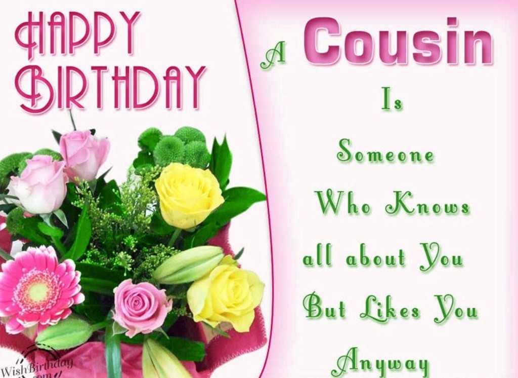 cousin birthday card messages ; cousin