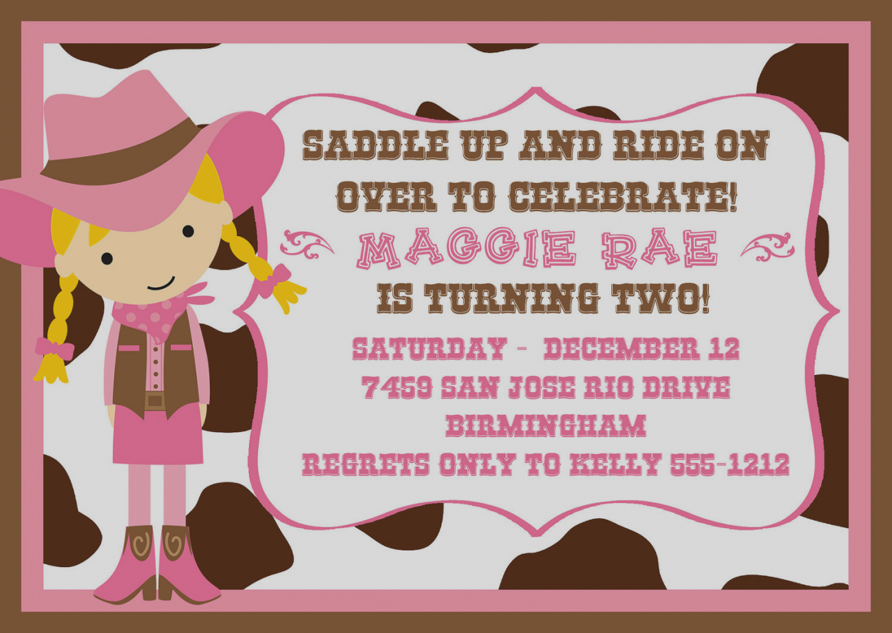 cowgirl birthday party invitation ideas ; best-of-cowgirl-birthday-party-invitations-create-ideas-anouk