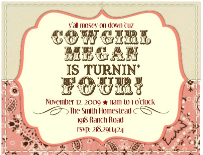 cowgirl birthday party invitation ideas ; cowgirl-birthday-party-invitations-is-to-sum-up-your-outstanding-ideas-of-do-it-yourself-delightful-Party-invitations-7