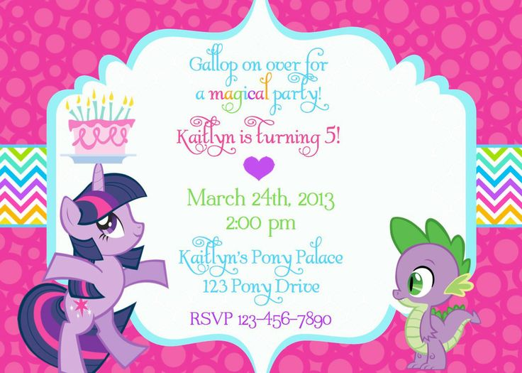 create your own birthday invitations ; Unique-My-Little-Pony-Birthday-Invitations-To-Create-Your-Own-Birthday-Invitations-Free