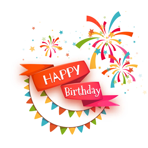 creative happy birthday posters ; Cute-happy-birthday-cards-vector-01