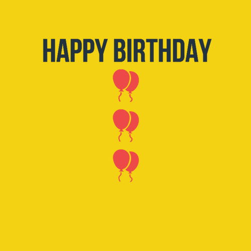 creative happy birthday posters ; large