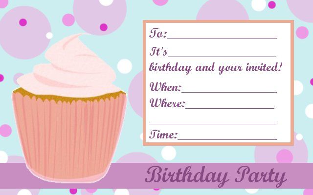 cupcake birthday invitation template ; 8d99d8f944dcb612c06a043d1d0d0da1