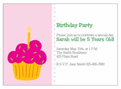 cupcake birthday invitation template ; PBI-cupcake1-pink