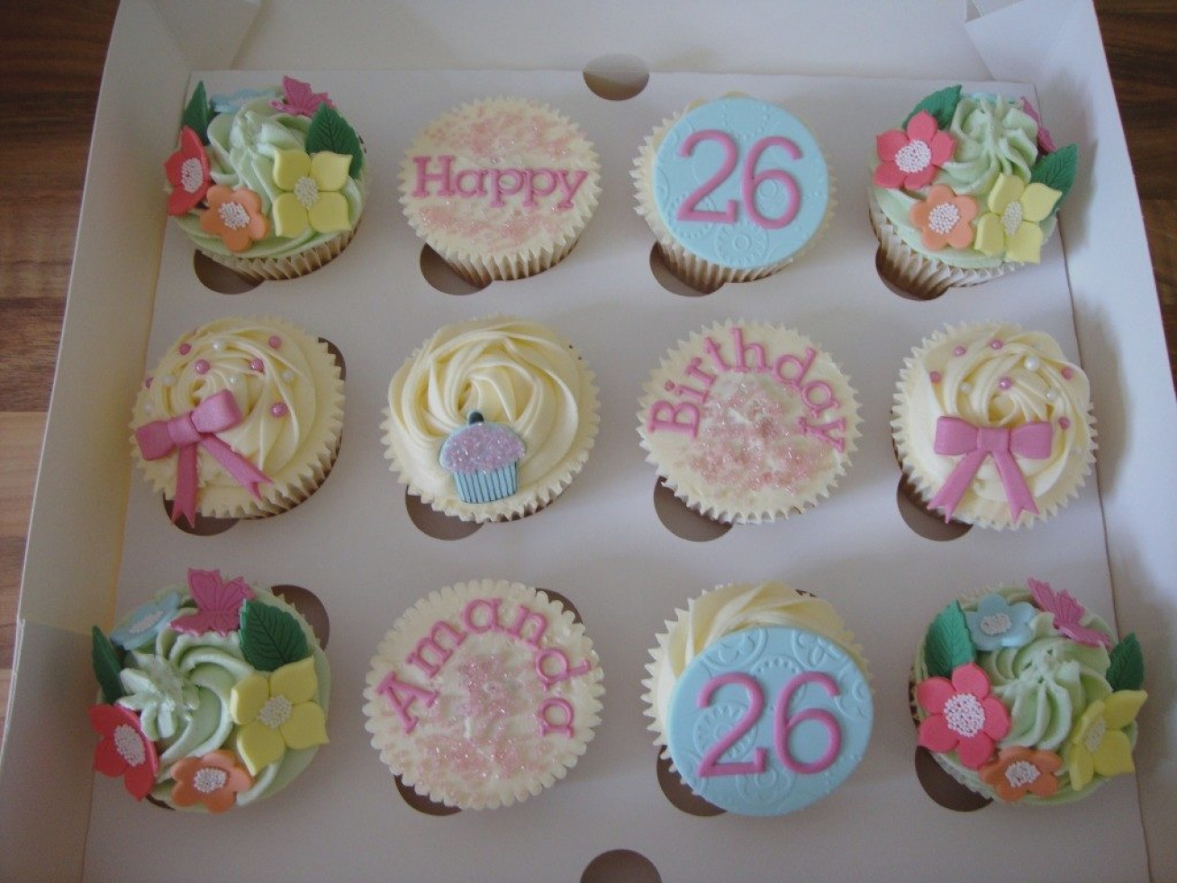 cupcake design ideas for birthday ; pictures-cupcakes-designs-home-design-easy-cute-birthday-for-boyfriend