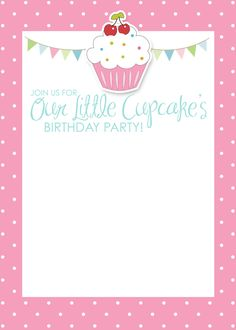 cupcake photo birthday invitations ; 9db277ce10b0a7cef4cc8727d2cee450--birthday-party-dresses-themed-birthday-parties