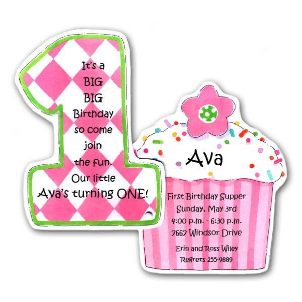 cupcake photo birthday invitations ; Cupcake-Pink-Diecut-1st-Birthday-Invitations-p-73-20990KCWBR-z