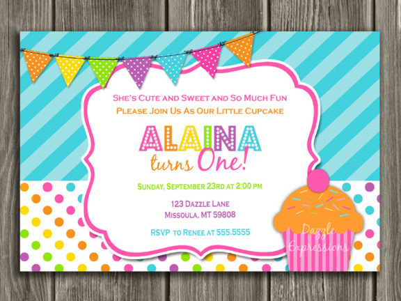 cupcake photo birthday invitations ; CupcakeInvitation