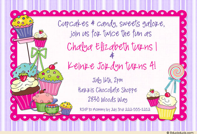 cupcake photo birthday invitations ; Sweet-Shoppe-Treats-Birthday-double-purple-pink-no-photo