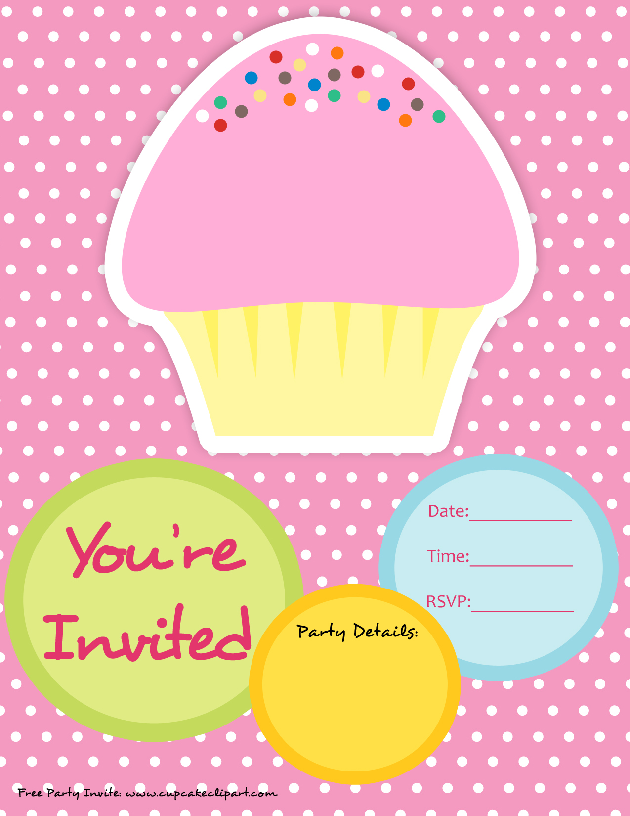 cupcake photo birthday invitations ; cupcake-party-invitation