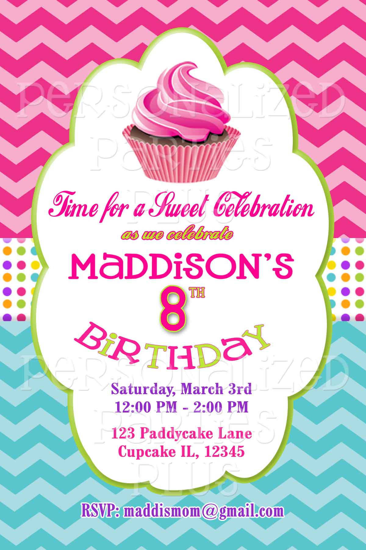 cupcake photo birthday invitations ; cupcake-portrait-invite