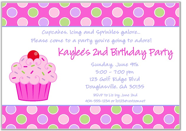 cupcake photo birthday invitations ; cupcakeinvitenew