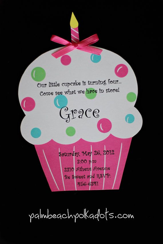 cupcake photo birthday invitations ; f343221bdb4457dc18c5850ba3ba50c0