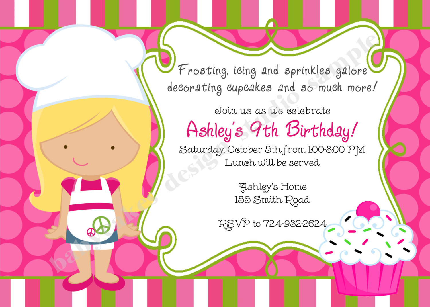 cupcake photo birthday invitations ; il_fullxfull