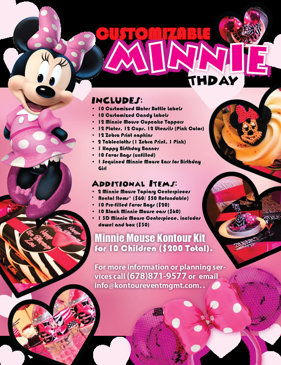 custom minnie mouse birthday banner ; minnie-mouse-girl-theme-birthday-party-in-a-box-decorations