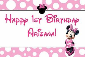 custom minnie mouse birthday banner ; s-l300