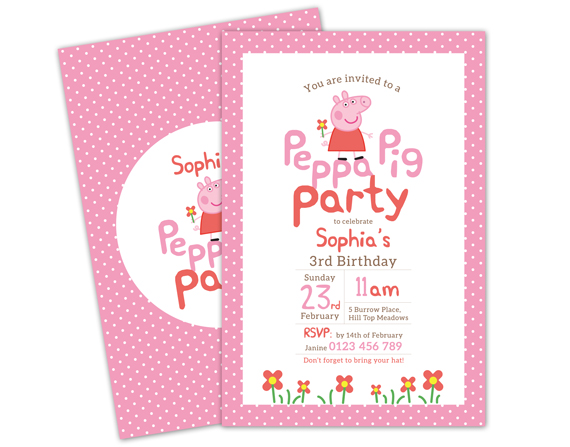 custom photo birthday party invitations ; 4_da378126ea984b24a1027620aca19af1Peppa-Pig---SHOP---PINK