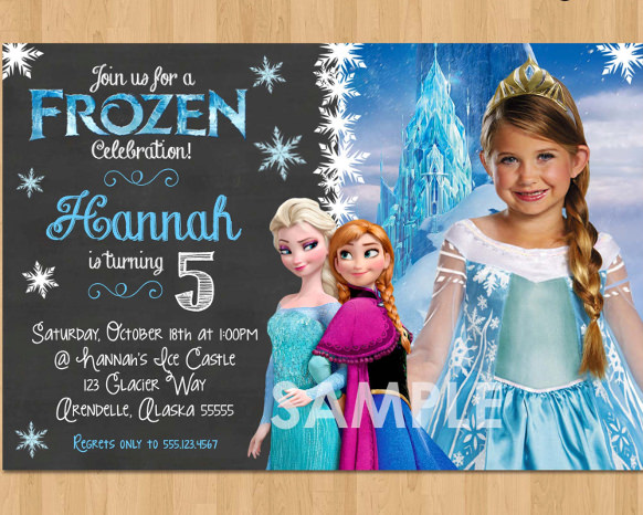custom photo birthday party invitations ; Remarkable-Frozen-Birthday-Party-Invitations-To-Create-Your-Own-Birthday-Invitations