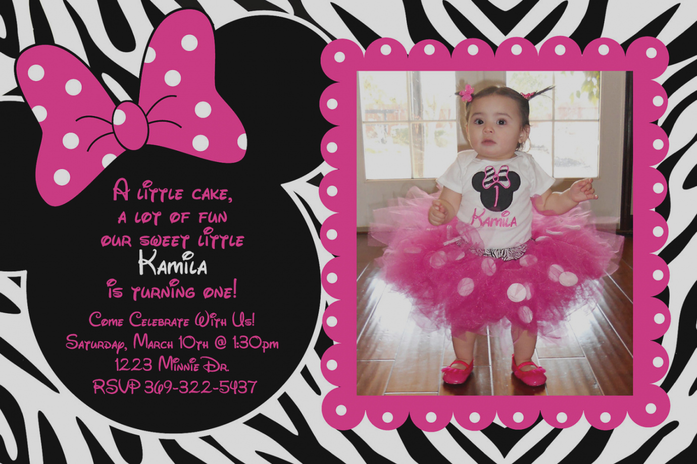 custom photo birthday party invitations ; new-custom-birthday-party-invitations-invites-best-10-minnie-mouse