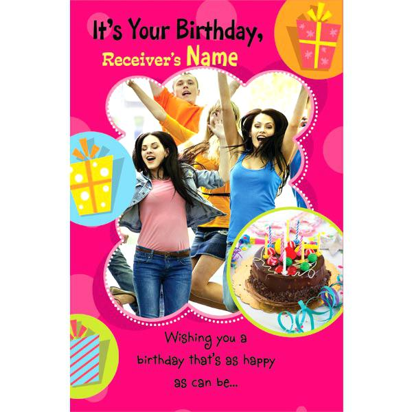 customized birthday greeting cards online ; customizable-birthday-greeting-cards-card-stunning-collection-personalized-online-pink-background-and-some-happy-girls-also-gifts-completing-si