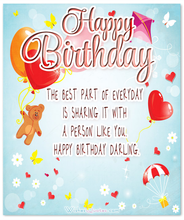 cute birthday card messages for girlfriend ; Happy-Birthday-Darling