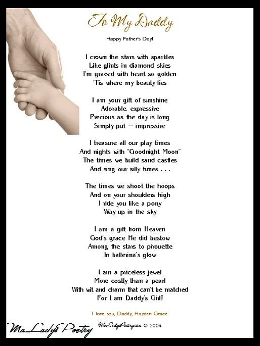 Imágenes De Daddys Little Girl Poem For Fathers Day