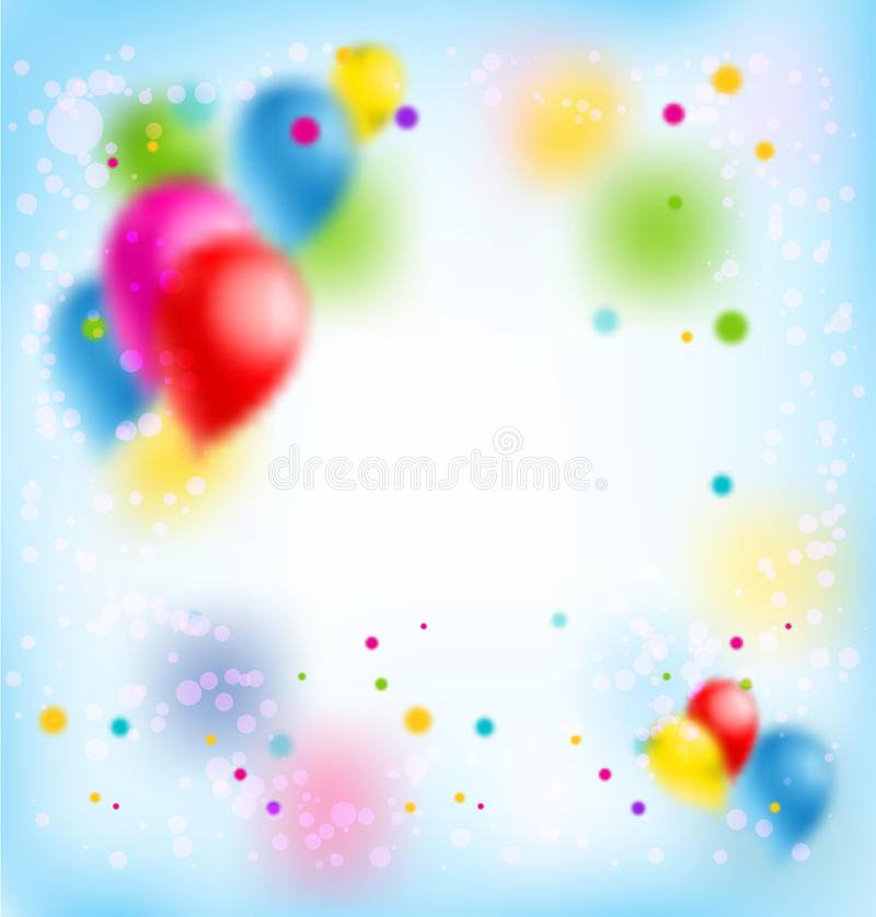 design banner happy birthday ; blur-happy-birthday-banner-holiday-template-design-ticket-leaflet-card-poster-background-balloons-86615204