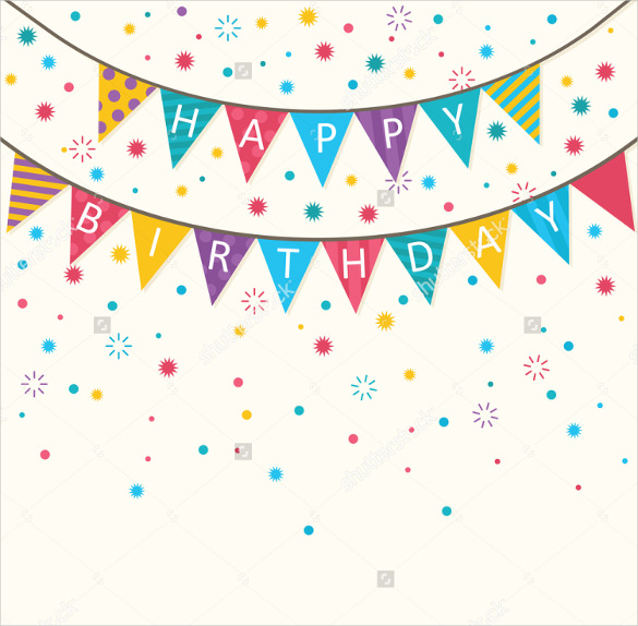 design for birthday banner ; Simple-Birthday-Banner-Template-Download