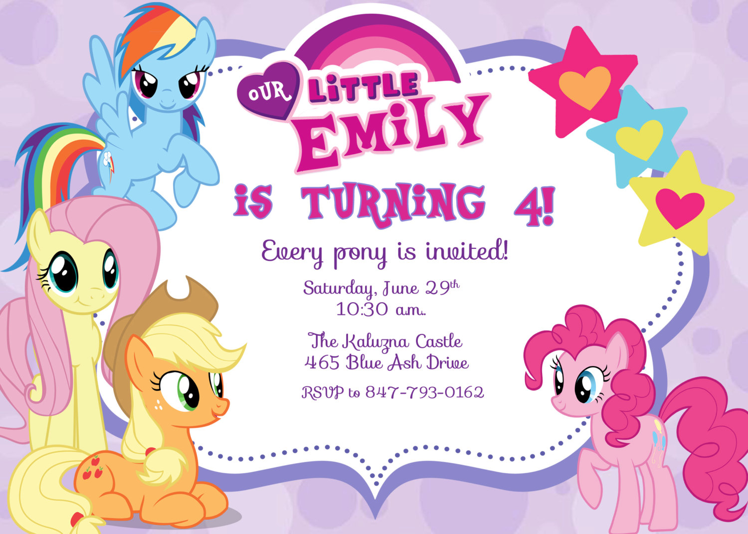 design my own birthday party invitation ; My-Little-Pony-Birthday-Invitation-Wording