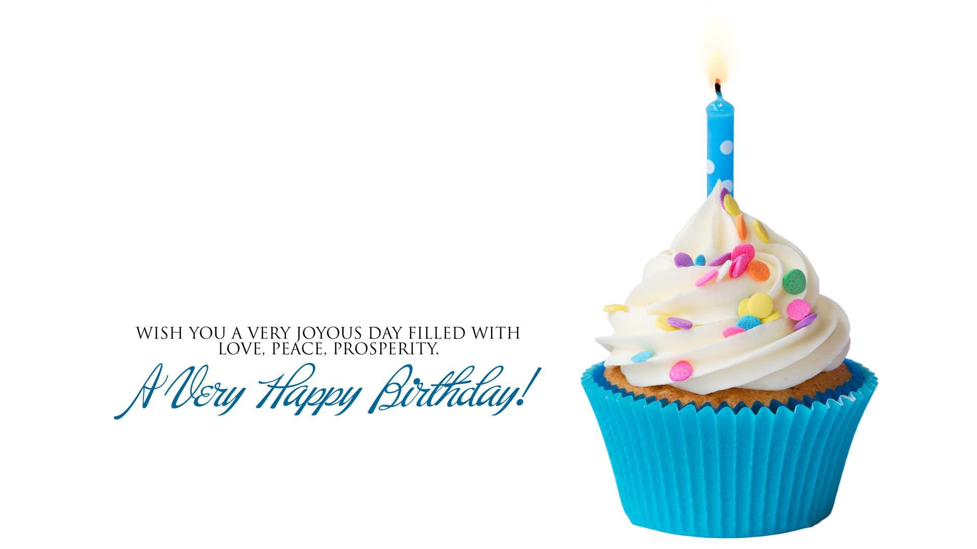 desktop birthday wallpaper ; blue_birthday_cake_with_candle