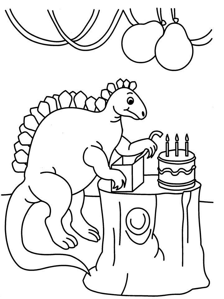 dinosaur birthday coloring pages ; 3215-13837-52